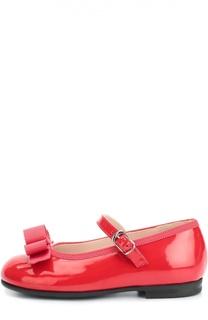 Лаковые туфли с бантом Il Gufo