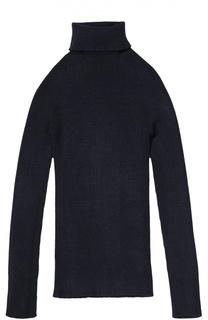 Пуловер фактурной вязки с высоким воротником Kuxo Cashmere
