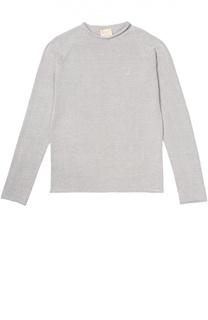Пуловер прямого кроя с отделкой Kuxo Cashmere