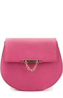 Кожаная сумка с декоративной цепочкой Juicy Couture