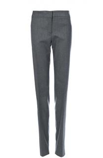 Шерстяные брюки прямого кроя со стрелками Armani Collezioni