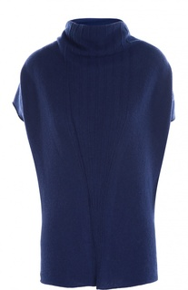 Кашемировый пуловер с коротким рукавом и воротником хомут Armani Collezioni