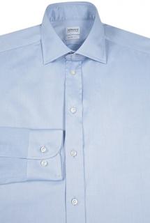 Хлопковая приталенная сорочка Armani Collezioni