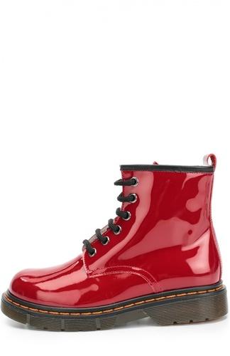 Лаковые ботинки на шнуровке Gallucci