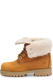 Кожаные ботинки на шнуровке Gallucci