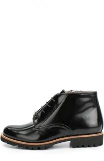 Кожаные ботинки с внутренней отделкой из меха Gallucci