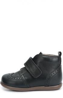 Кожаные ботинки с перфорацией Beberlis