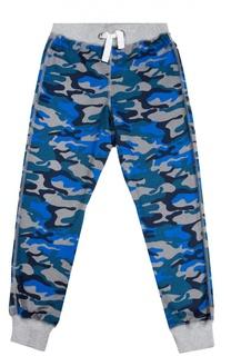 Хлопковые брюки с камуфляжным принтом Sanetta
