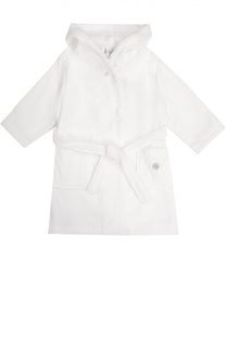 Хлопковый халат с капюшоном и карманами Sanetta