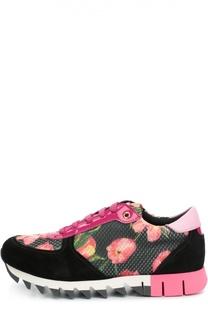 Комбинированные кроссовки с принтом Dolce & Gabbana