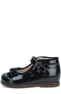 Лаковые туфли с бархатным бантом Beberlis