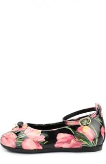 Лаковые туфли с принтом Dolce & Gabbana