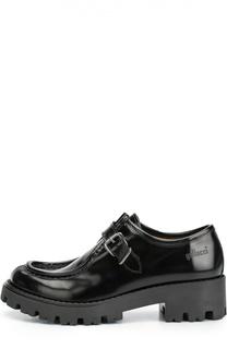 Кожаные туфли на массивной подошве Gallucci