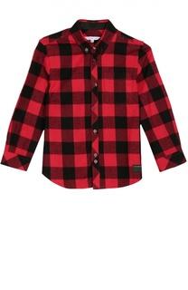 Хлопковая рубашка в клетку Marc Jacobs