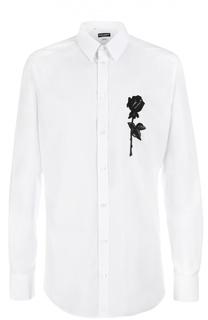Хлопковая сорочка с вышивкой Dolce & Gabbana