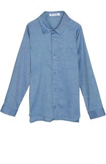 Рубашка из эластичного хлопка с нагрудным карманом Loro Piana