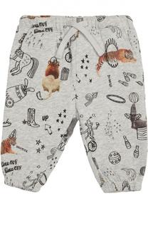 Хлопковые брюки с принтом Stella McCartney