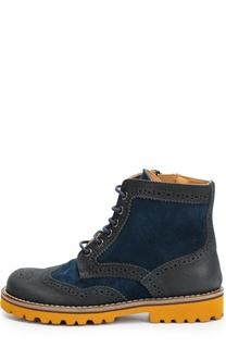 Комбинированные ботинки с перфорацией Gallucci