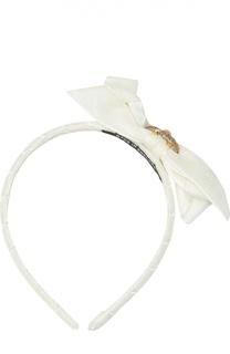Бархатный ободок с бантом и кристаллами David Charles