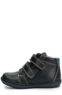 Кожаные ботинки с застежкой велькро Beberlis
