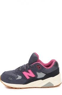 Замшевые кроссовки 580 с сетчатыми вставками New Balance