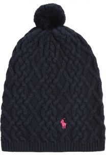 Вязаная шапка с помпоном Polo Ralph Lauren