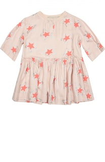 Приталенное платье с принтом в виде звезд Stella McCartney