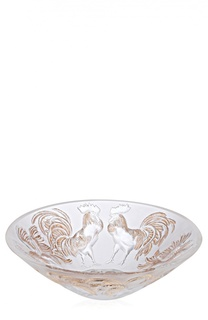Ваза для фруктов с позолотой Lalique