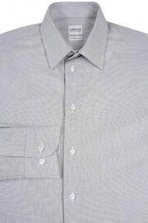Хлопковая рубашка с узором Armani Collezioni