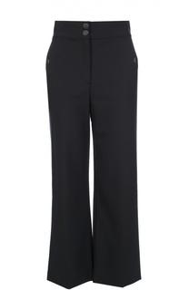 Укороченные расклешенные брюки с завышенной талией Escada Sport