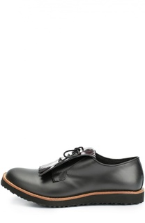 Кожаные туфли с бахромой Gallucci