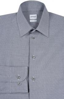 Рубашка из фактурного хлопка с воротником кент Armani Collezioni