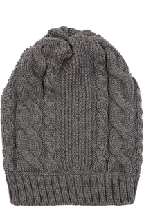 Шестяная шапка фактурной вязки Catya