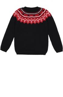 Пуловер с контрастной отделкой Oscar de la Renta