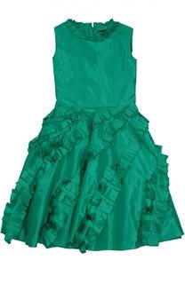 Приталенное платье с декоративной отделкой Oscar de la Renta