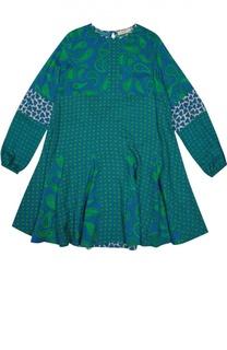 Платье свободного кроя с узором пейсли Stella McCartney