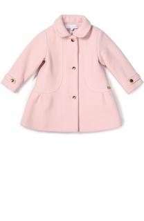Пальто из шерсти с крупными пуговицами Tartine Et Chocolat