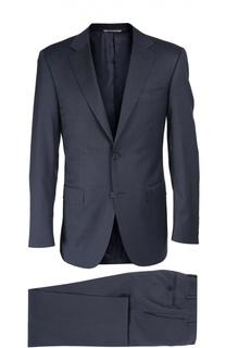 Шерстяной приталенный костюм Canali