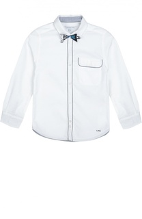 Хлопковая рубашка со съемной нашивкой Marc Jacobs