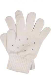 Перчатки из шерсти мериноса со стразами Catya