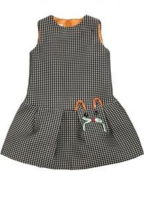 Платье в клетку без рукавов I Pinco Pallino