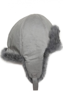 Шапка-ушанка с внутренней отделкой из меха кролика Yves Salomon Enfant