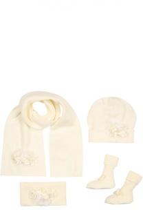 Комплект из шапки, шарфа, повязки и носков Il Trenino