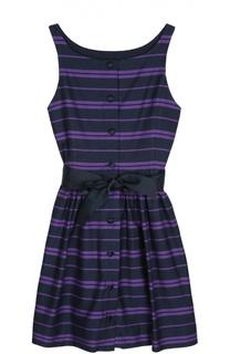 Хлопковое платье с поясом Polo Ralph Lauren