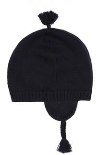 Шерстяная шапка с вышитым логотипом Polo Ralph Lauren