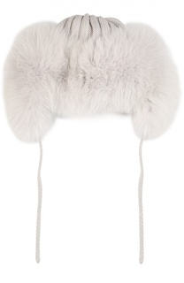 Шерстяная шапка с отделкой из меха лисы Catya