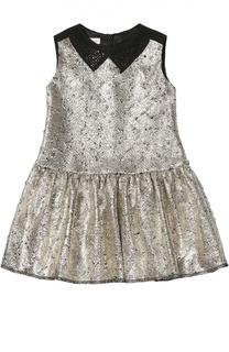 Платье без рукавов с металлизированной отделкой I Pinco Pallino