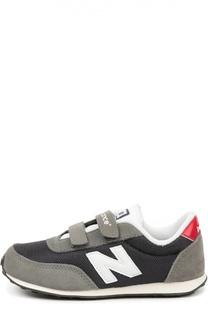 Замшевые кроссовки 410 с сетчатой вставкой New Balance