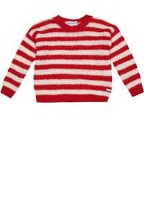 Шерстяной пуловер в контрастную полоску Simonetta