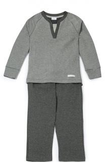 Хлопковая пижама в мелкую полоску Grigioperla